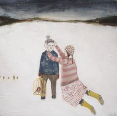 Amanda Blake Mary Prepares Colin for His Journey http://thesisterproject.com/galleries/the-paintings-of-amanda-blake-dipping-into-our-shared-past/