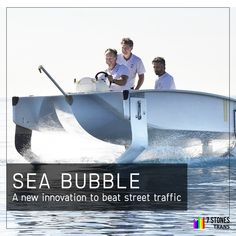 SeaBubbles is a battery-powered boat with a hydrofoil design and has a greater speed by lifting the hull of a boat over the water. This electric water taxi aims to make urban transport emission-free and will be available in 50 cities within 5 years. Best Digital Marketing Company, Chennai, Taxi, 5 Years, Social Media Marketing, Transportation, Cities, Innovation, Vehicle