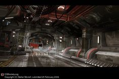 Sci-fi Corridor by Stefan Morrell   3D   CGSociety