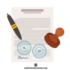 Vector image of a signed contract. Law Firm Logo, Law Students, Signed Contract, Law And Justice, Isometric Design, Law School, Public Domain, App Design, Vector Free