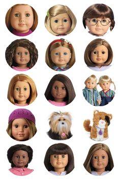 AG doll face printable