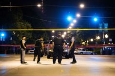 Members of the Chicago Police Department work the scene of a police-involved shooting on the 7800 bl... - Armando L. Sanchez/Chicago Tribune/TNS via Getty Images