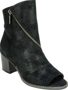 f22c4d6fe Compare Prices on White Mountain Dara Open Toe Bootie in Black Rave  Distressed Waxy Fabric