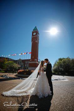 Great #wedding shot for #Billiken alums to take near the #SLU clock tower. By Salvatore Cincotta Photography.