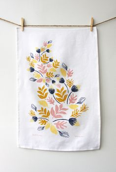 Sprouts tea towel by etsy seller leahduncan.