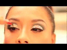 How To Apply Glitter Rhinestones Eye Makeup - Vegas_Nay