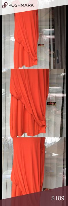 Alexander McQueen gorgeous orange dress Worn on every soft rayon and elastane fabric Alexander McQueen Dresses