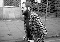 Martin McGuinness leaves Belfast Court following the dropping of IRA membership charge March 1976 | Victor Patterson