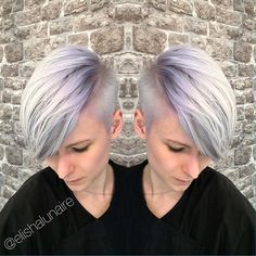 LOVE this Shadow Root lilac Colourmelt I created at @rhapsody_hairdressing I lifted the hair using @schwarzkopfpro Vario Blond Plus before toning using a custom mix of #schwarzkopfprofessional #vibrance and #pearlescence Formula: Vib 9,5-1 + P9,5-29 + E-111 #hair #hairdressing #creativecolour #colourmelt #lilachair #pastelhair #iceblonde #silverhair #pixiecut #nothingbutpixies #shadowroot #schwarzkopf #blondme #creativecut #hairdressinglife #salonlife #behindthechair #unicornhair #uni...