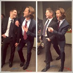 @OfficialBrianaB (twitter): Merry Christmas. This is what happens when you tell @JensenAckles and @jarpad to pose like catalogue models. LOL's! via Briana Buckmaster on twitter .. aww J2 look so adorable dorkies LOL ^_^ <3 <3 || Jensen Ackles || Jared Padalecki