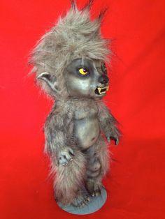 Thirston Howls lll is a OOAK werewolf baby art by TheHeebieJeebiez