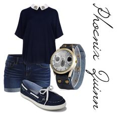 """""""Phoenix Quinn"""" by aphdenbloodworth ❤ liked on Polyvore featuring VILA, Ted Baker and Eastland"""