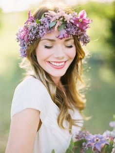 20 Floral Bridal Crowns & Flower Wreaths {Trendy Tuesday} | Confetti Daydreams - A floral wreath with lavender and lilac blooms ♥  ♥  ♥ LIKE US ON FB: www.facebook.com/confettidaydreams  ♥  ♥  ♥ #Wedding #FlowerCrowns #FlowerWreaths