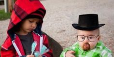 If you thought all things Breaking Bad, AMC's hit drama, were over -- think again. Two characters from the show made an appearance this Halloween season, but they're smaller than usual.