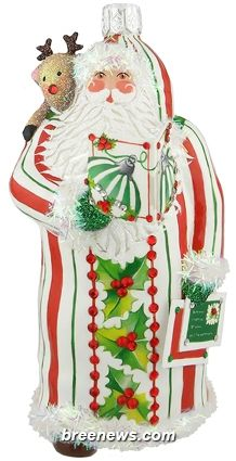 Read It To Me, Please (Holly, Stripe) Patricia Breen Designs (Green, Holly, Pearl/white, Red, Striped, Santa, Deer)