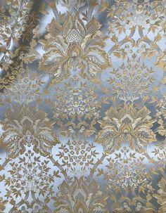 NEW 1/2 Yard Remnant- 100% Silk Brocade Satin Neoclassical Fabric -Floral Blue - Fancy Styles Fabric Pierre Frey Lee Jofa Brunschwig & Fils Silk Satin Fabric, Brocade Fabric, Jacquard Fabric, Jacquard Weave, Pierre Frey, Sewing Stitches, Fabric Sofa, Floral Motif, Fabric Patterns