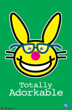 Sass up your space with the Trends International Happy Bunny Nerds Wall Poster 's dark humor and simplistic design. Gag Gifts, Funny Gifts, Happy Bunny Quotes, Nerd Art, Free Cartoons, Nerd Love, Funny Bunnies, Bunny Meme, Funny Happy