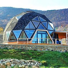 Quonset Hut Homes Design, Great Idea for a Tiny House Sustainable Architecture, Architecture Details, Residential Architecture, Contemporary Architecture, Casa Octagonal, Dream Home Design, House Design, Quonset Hut Homes, Geodesic Dome Homes