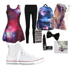 """""""Sephri(BFF)"""" by llamacorngirl ❤ liked on Polyvore featuring Donna Karan, Converse, JFR and Manic Panic"""