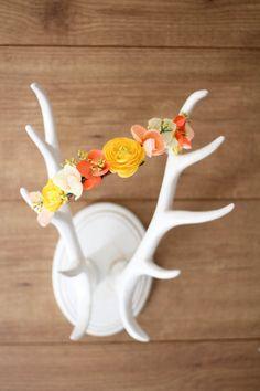 Flower Crown by OrourkeShop on Etsy, $35.00