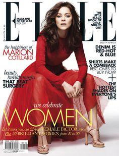 Marion Cottilard in the red half sheer Dior