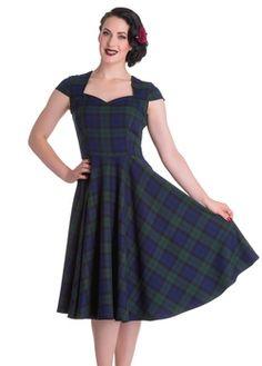 Hell Bunny Aberdeen 50's Plaid Dress