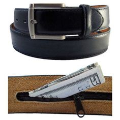 Hiding Money Casual Belt - These belts are fine decorative additions in fashion as well as a secret place to hide money.