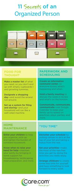 Top tips for organising your home