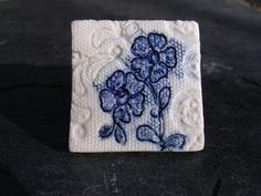 Lace Flower Porcelain Brooch £4.00 - Creative Connections  #craftfest