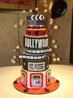 Old Hollywood theme cake by sweetcakesbyrebecca, via Flickr