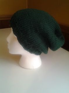 The not so wild life: Free knitting pattern : Easy Slouchy Knit Hat