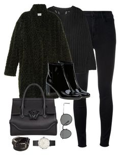 """Untitled #3159"" by theaverageauburn on Polyvore featuring J Brand, Rick Owens, Étoile Isabel Marant, Yves Saint Laurent, Versace, Ann Demeulemeester, Topshop and Ray-Ban"