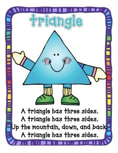 Shape Poems- Teaching shapes through songs and poems is a good way to promote literacy skills for your child.: