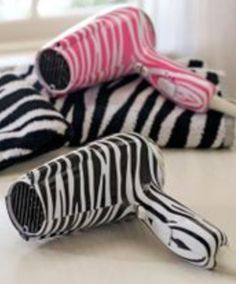 Zebra hair dryers!