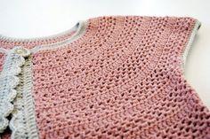 crochet / lovely pink cardi