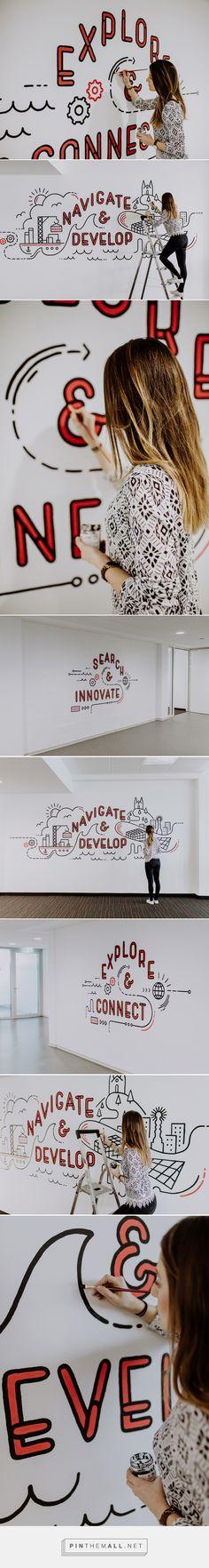 Wall Art for 'Neue Werft' coworking space in Linz #wallart #walllettering #lettering #handwriting #calligraphy #painting #art #interior #design #designer #artist