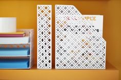 Use our Charleston Collection to store file folders, magazines, card stock and more!