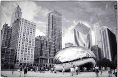 chicago illinois cloud gate bean at&t plaza chicago illinois cloud gate bean at&t plaza millennium park sights black white macphun tonality robert peterson photography Photography Software, Chicago Illinois, Black And White Photography, Photo Editing, Black White, In This Moment, Park, Cloud, Travel