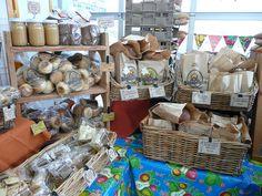 Bellingham Farmers Market display by Breadfarm, via Flickr