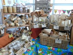 Bellingham Farmers Market display by Breadfarm, via Flickr