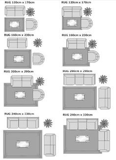 how to place a rug in living room - Google Search