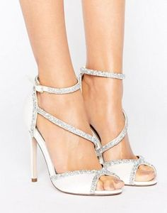ASOS HIBISCUS Bridal Embellished Heeled Sandals