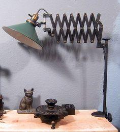 Industrial Scissor Desk Lamp Vintage Jointed Clamp on Light Tumblemonkey® | eBay