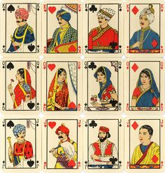 Playing Card Designs | Above & Right : 'Dilkhus' playing cards manufactured by Etablissement ...