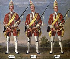 Grenadiers, 28th, 29th and 30th Regiments of Foot