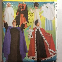 Halloween Costume Cruella Deville Witch Sewing Pattern Sz 8 10 Cape Angel #McCall