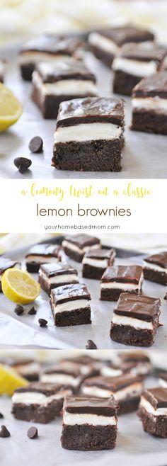 Lemon Brownies, a lemony twist on a classic