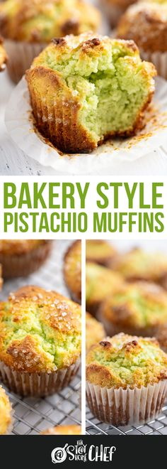 Bakery Style Pistachio Muffins These Pistachio Muffins taste like they came from a bakery with their perfectly domed tops and delicious pistachio flavor. No Bake Desserts, Just Desserts, Delicious Desserts, Dessert Recipes, Yummy Food, Cupcake Recipes, Tasty, Pastry Recipes, Muffin Recipes