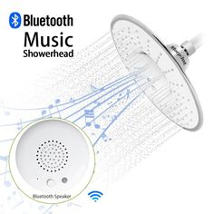 Rain Showerhead Bluetooth Speaker With Speakerphone (Android and iOS Compatible)
