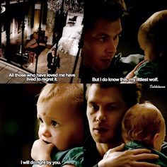 This is my favorite scene with Klaus and Hope, ever Vampire Diaries Wallpaper, Vampire Diaries Damon, Vampire Diaries Quotes, Vampire Diaries The Originals, Hayley And Klaus, Klaus And Hope, The Orignals, Vampire Shows, Klaus The Originals